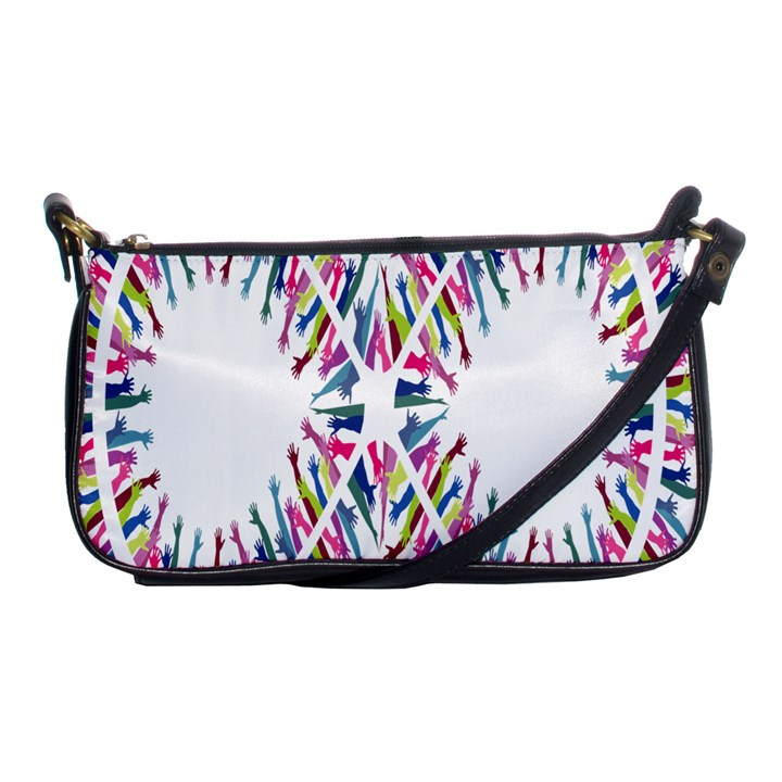 Free Symbol Hands Shoulder Clutch Bags