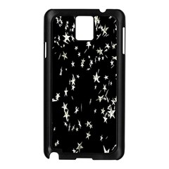 Falling Spinning Silver Stars Space White Black Samsung Galaxy Note 3 N9005 Case (black)