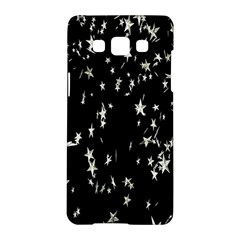 Falling Spinning Silver Stars Space White Black Samsung Galaxy A5 Hardshell Case