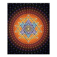 Cosmik Triangle Space Rainbow Light Blue Gold Orange Shower Curtain 60  X 72  (medium)
