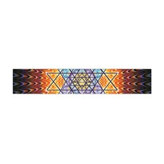 Cosmik Triangle Space Rainbow Light Blue Gold Orange Flano Scarf (mini)