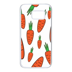 Fruit Vegetable Carrots Samsung Galaxy S7 White Seamless Case