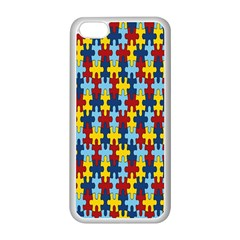 Fuzzle Red Blue Yellow Colorful Apple Iphone 5c Seamless Case (white)