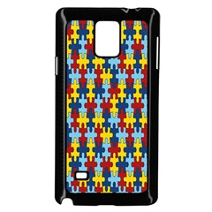 Fuzzle Red Blue Yellow Colorful Samsung Galaxy Note 4 Case (black)