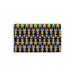 Fuzzle Red Blue Yellow Colorful Cosmetic Bag (XS) Front