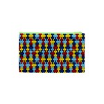 Fuzzle Red Blue Yellow Colorful Cosmetic Bag (XS) Back