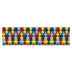 Fuzzle Red Blue Yellow Colorful Satin Scarf (oblong)