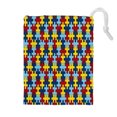 Fuzzle Red Blue Yellow Colorful Drawstring Pouches (extra Large)