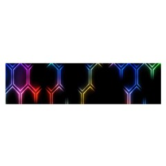 Grid Light Colorful Bright Ultra Satin Scarf (oblong)