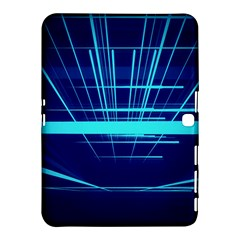Grid Structure Blue Line Samsung Galaxy Tab 4 (10 1 ) Hardshell Case