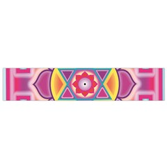 Kali Yantra Inverted Rainbow Flano Scarf (small)