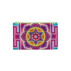 Kali Yantra Inverted Rainbow Cosmetic Bag (xs)