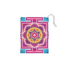 Kali Yantra Inverted Rainbow Drawstring Pouches (xs)
