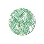 Jungle Fever Green Leaves Magnet 3  (Round) Front