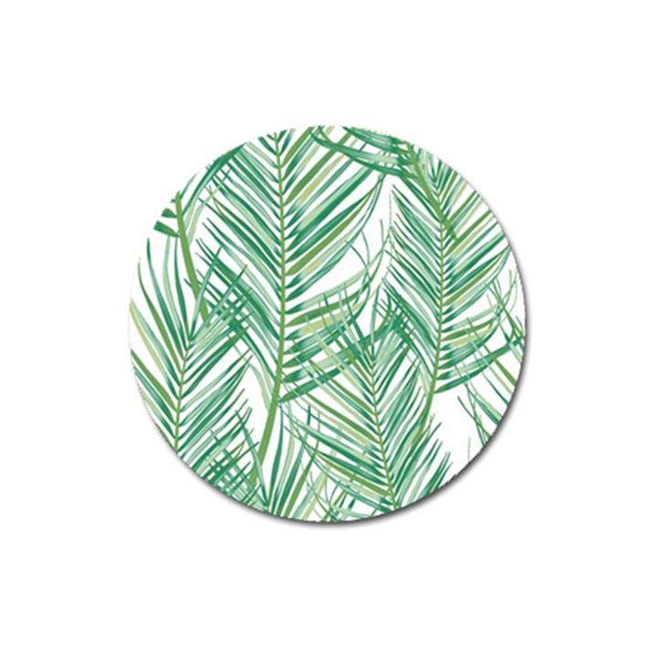 Jungle Fever Green Leaves Magnet 3  (Round)