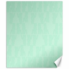 Line Blue Chevron Canvas 8  X 10