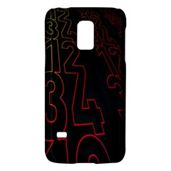 Neon Number Galaxy S5 Mini