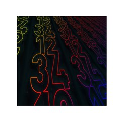 Neon Number Small Satin Scarf (square)