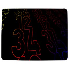 Neon Number Jigsaw Puzzle Photo Stand (rectangular)