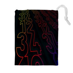 Neon Number Drawstring Pouches (extra Large)
