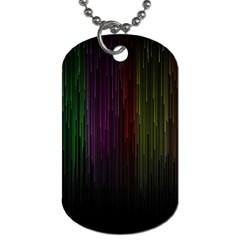 Line Rain Rainbow Light Stripes Lines Flow Dog Tag (one Side)