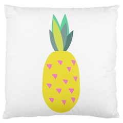 Pineapple Fruite Yellow Triangle Pink Standard Flano Cushion Case (two Sides)