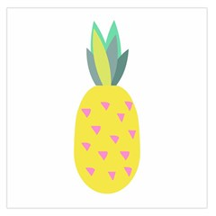 Pineapple Fruite Yellow Triangle Pink Large Satin Scarf (square)