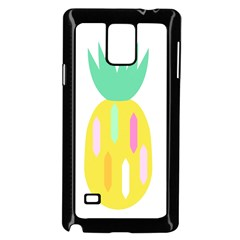 Pineapple Fruite Yellow Triangle Pink White Samsung Galaxy Note 4 Case (black)