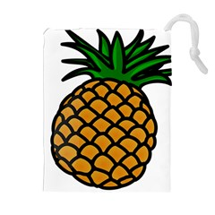 Pineapple Fruite Yellow Green Orange Drawstring Pouches (extra Large)
