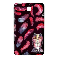 Boho Owl And Feather Pattern Samsung Galaxy Tab 4 (7 ) Hardshell Case