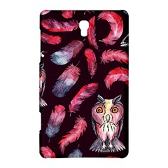 Boho Owl And Feather Pattern Samsung Galaxy Tab S (8 4 ) Hardshell Case