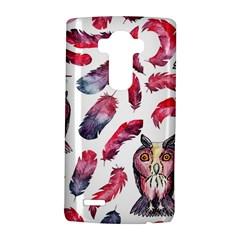Boho Owl And Feather White Pattern Lg G4 Hardshell Case