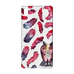 Boho Owl And Feather White Pattern Sony Xperia Z3+