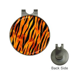 Skin3 Black Marble & Fire (r) Hat Clips With Golf Markers
