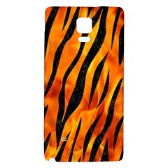 Skin3 Black Marble & Fire (r) Galaxy Note 4 Back Case