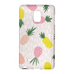 Pineapple Rainbow Fruite Pink Yellow Green Polka Dots Galaxy Note Edge