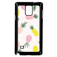 Pineapple Rainbow Fruite Pink Yellow Green Polka Dots Samsung Galaxy Note 4 Case (black)