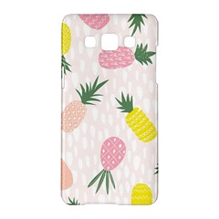 Pineapple Rainbow Fruite Pink Yellow Green Polka Dots Samsung Galaxy A5 Hardshell Case