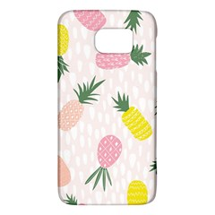 Pineapple Rainbow Fruite Pink Yellow Green Polka Dots Galaxy S6