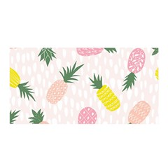 Pineapple Rainbow Fruite Pink Yellow Green Polka Dots Satin Wrap