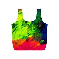 Neon Rainbow Green Pink Blue Red Painting Full Print Recycle Bags (s)
