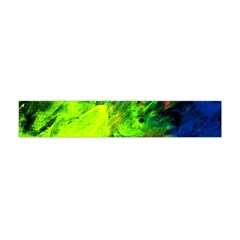 Neon Rainbow Green Pink Blue Red Painting Flano Scarf (mini)