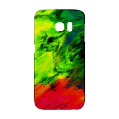 Neon Rainbow Green Pink Blue Red Painting Galaxy S6 Edge