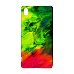 Neon Rainbow Green Pink Blue Red Painting Sony Xperia Z3+