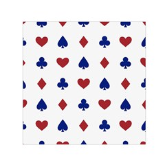 Playing Cards Hearts Diamonds Small Satin Scarf (square)