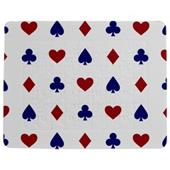 Playing Cards Hearts Diamonds Jigsaw Puzzle Photo Stand (rectangular)