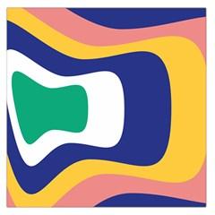 Rainbow Pink Yellow Bluw Green Rainbow Large Satin Scarf (square)
