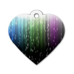 Numerical Animation Random Stripes Rainbow Space Dog Tag Heart (one Side)