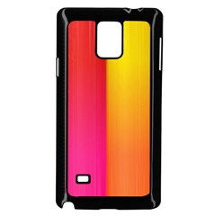 Rainbow Stripes Vertical Lines Colorful Blue Pink Orange Green Samsung Galaxy Note 4 Case (black)