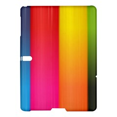 Rainbow Stripes Vertical Lines Colorful Blue Pink Orange Green Samsung Galaxy Tab S (10 5 ) Hardshell Case